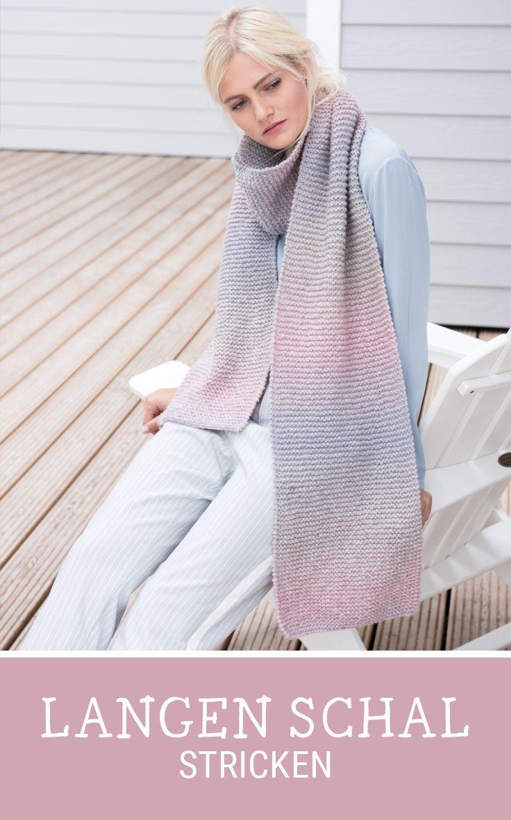 Langen Schal mit Farbverlauf stricken, xxl Schal / xxl oversized scarf: free knitting pattern for an ombre scarf,  Lana Grossa via DaWanda.com