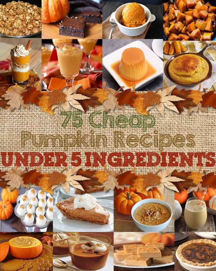 75 Cheap Pumpkin Recipes Under 5 Ingredients