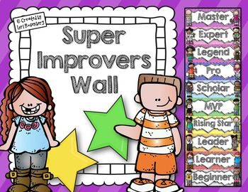 Whole Brain Teaching Super Improvers Wall and Classroom Ru
