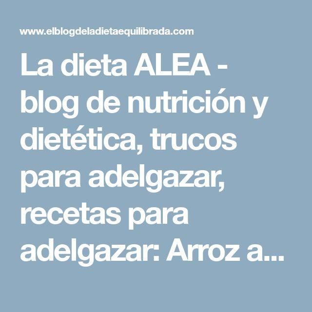 La dieta ALEA - blog de nutrición y dietética, trucos para adelgazar, recetas para adelgazar: Arroz a la carbonara