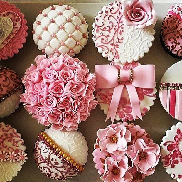 """23 Likes, 1 Comments - sweet desserts (@sweetdesserts82) on Instagram: """"Cupcakes for a birthday girl whose only request was they should be pink. Happy Birthday chloe. Hope…"""""""