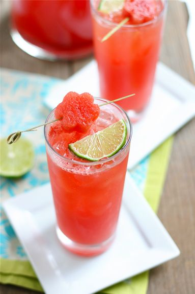 sparkling watermelon limeade {Lauren's Latest for Good Life Eats}