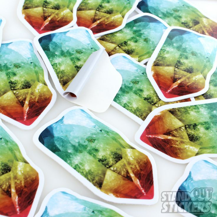 Colorful Minerals Custom Die Cut Stickers