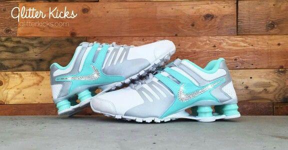Nike shocks- glitter.