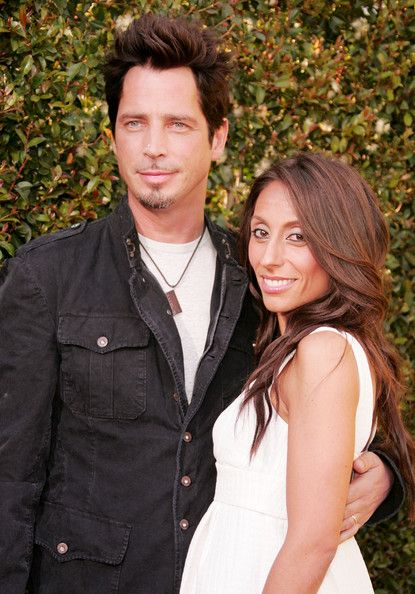 """Chris Cornell Photos Photos - Musician Chris Cornell and wife Vicky Karayiannis arrives to the taping of Spike TV's First Annual 'Guys Choice' at Radford Studios on June 9, 2007 in Studio City, California.  Spike TV?s ?Guys Choice? premieres June 13, 2007 at 10:00pm ET/PT. - Spike TV's First Annual """"Guys Choice"""" - Arrivals"""
