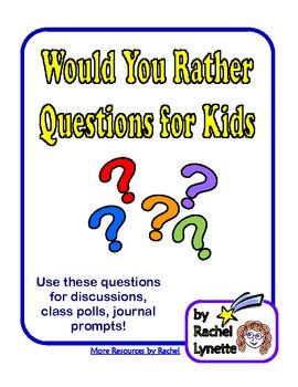 Here are 20 fun Would You Rather Questions just for kids. These are great to use when you have a few extra minutes.Get 180 more questions here:...