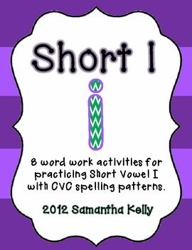 FREEBIE for teaching Short I CVC words in your classroom.  Lots of fun activities that can be used in many different settings!