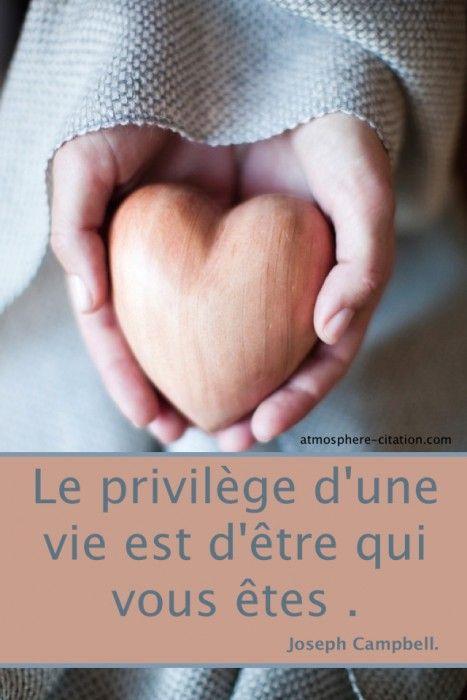 Le privilège d'une vie Est d'être qui vous êtes. – Joseph Campbell