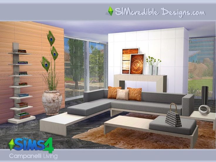 We Brought This Modern Living Set We Created A Few Months Ago Originally  For It Has 12 Pieces, Mostly With 3 Colors Variations. Found In TSR  Category U0027Sims ...