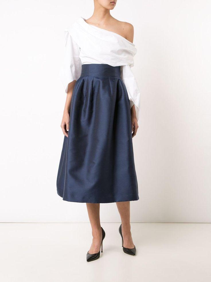 Carolina Herrera falda de talle alto con vuelo