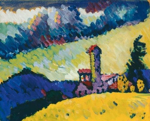 Wassily Kandinsky -Toen Kandinsky in 1896 naar München kwam, had de stad al een behoorlijke reputatie opgebouwd als cultuurstad. Het  artistieke klimaat rond de eeuwwisseling had een grote aantrekkingskracht op schilders, beeldhouwers, architecten, ontwerpers, componisten en schrijvers. Bovendien was het dé stad van de Jugendstil. Veel kunstenaars kwamen uit Rusland, Oost- en Midden-Europa om kennis te maken met het avant-gardisme.
