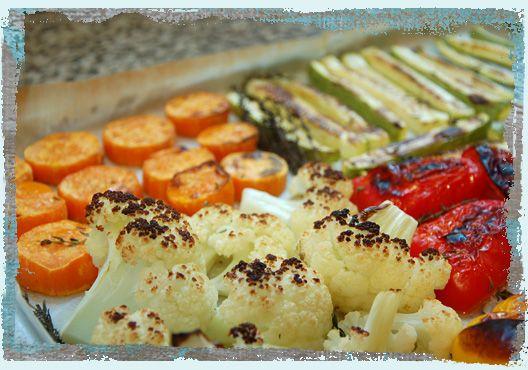 овощи в духовке в режиме гриль