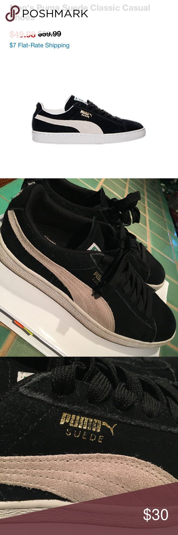 Details about puma womens suede classic rg black running shoes - Black Puma Suede Classics Women S 8