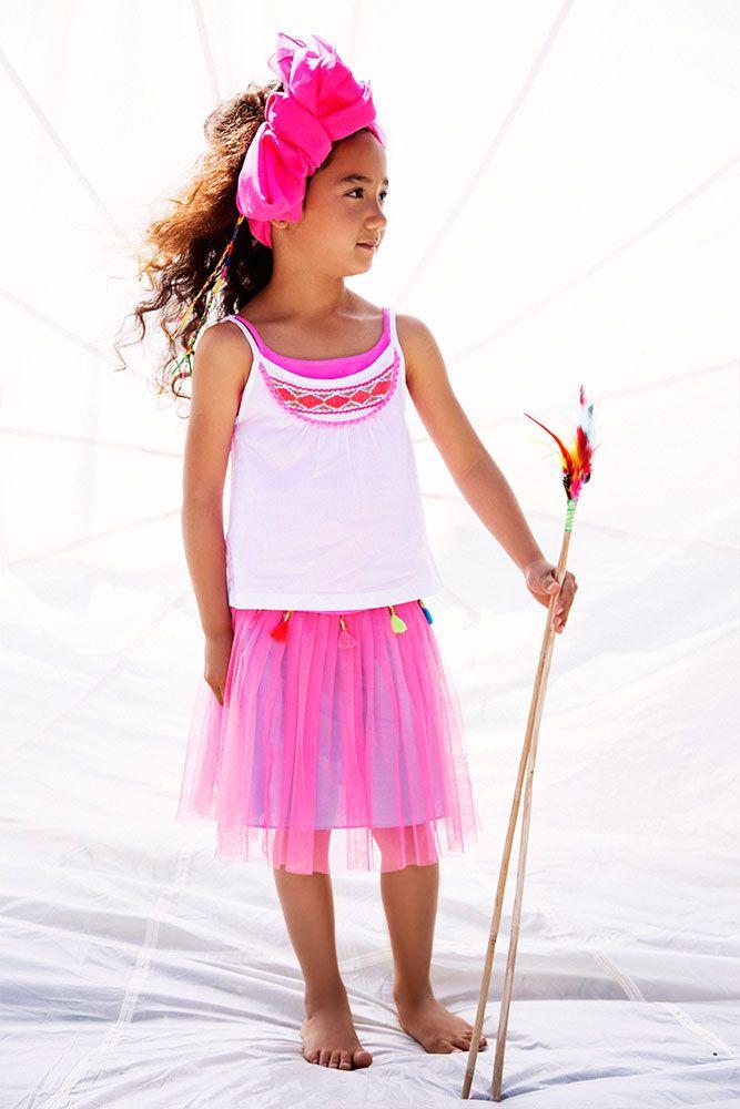 Kinderkleding | MimPi 2014 | Hippe roze rok | cute | www.kienk.nl