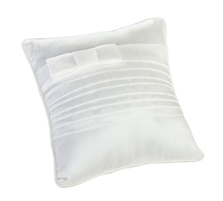 White Pleated Silk Pillow