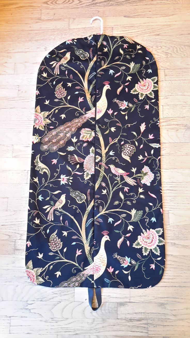 Women's Peacock Hanging Garment Bag by CarryItWell on Etsy