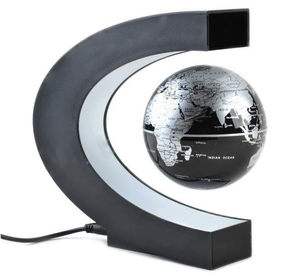 Levitating World Globe Simulates Rotation