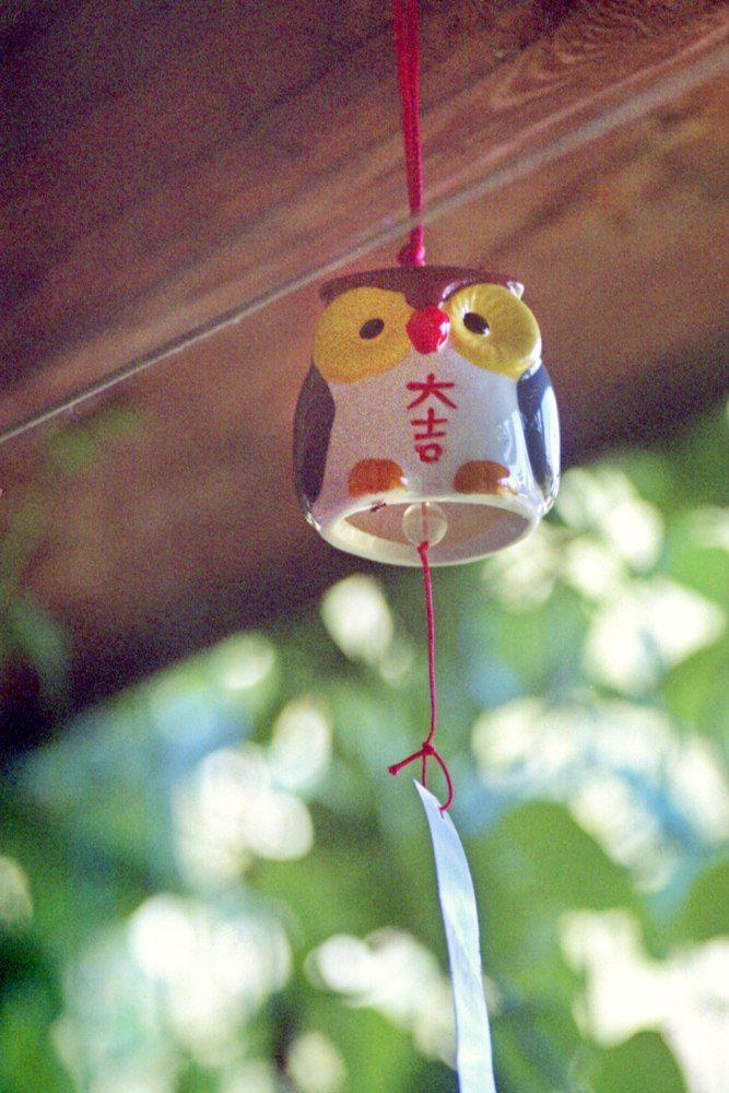 Сова, колокольчик, фурин, дача, пленка, furin, ceramic bell, owl