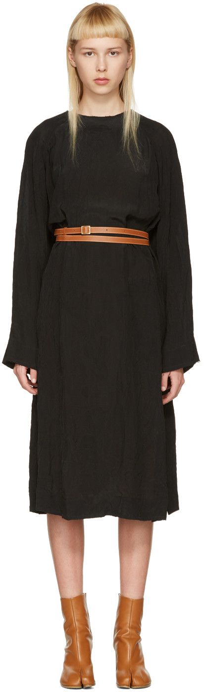 LOEWE Black Belted Tunic Dress. #loewe #cloth #dress