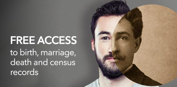 FREE ACCESS to birth, marriage, death and census records on findmypast