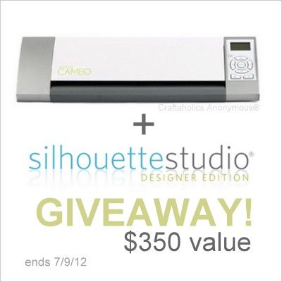 Silhouette Cameo Giveaway!!Silhouettes Machine, Dreams Machine, Discount Info, Silhouettes Cameo, Products, Silhouettes Giveaways, Craftaholics Anonymous, Cameo Giveaways, Silhouette Cameo