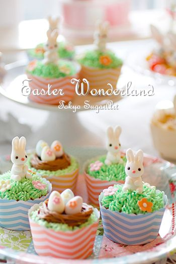 easter cupcakes! #bunny #rabbit #easter for your cake and sugarcraft supplies visit www.weddingacrylics.co.uk