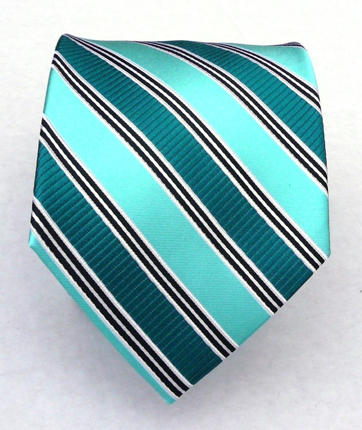 tieStripes Ties, Clothing, Tealaqua Ties, Green Teal Aqua, Teal Aqua Ties, Teal Ties, Woven Green, Silk Woven, Aqua Stripes