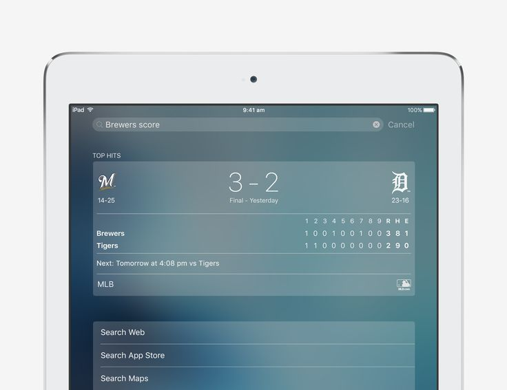 Get the score - iOS 9 Tips and Tricks for iPad - Apple Support