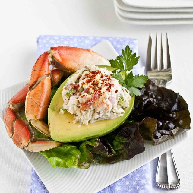FOODjimoto: Crab Salad Stuffed Avocado