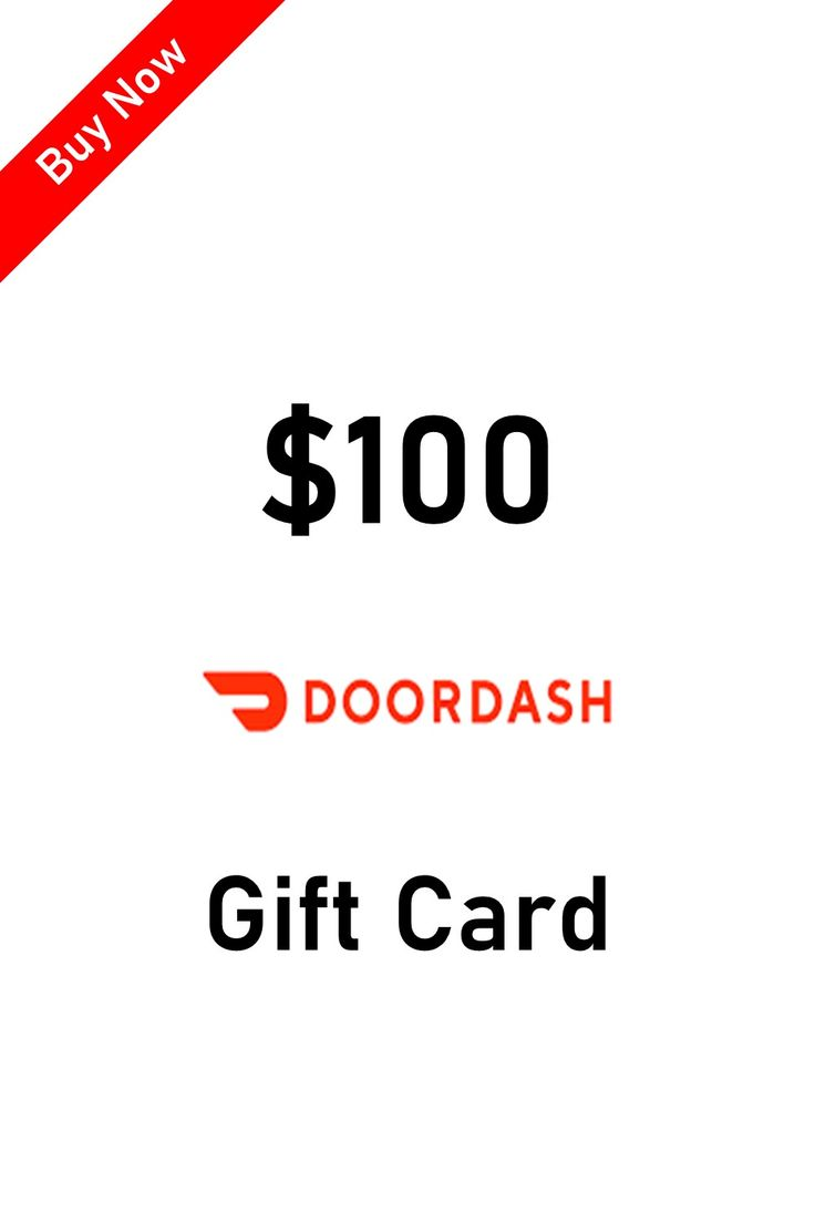 Buy doordash gift card online with paypal and credit card