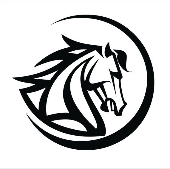 horse head decal for car  truck or trailer