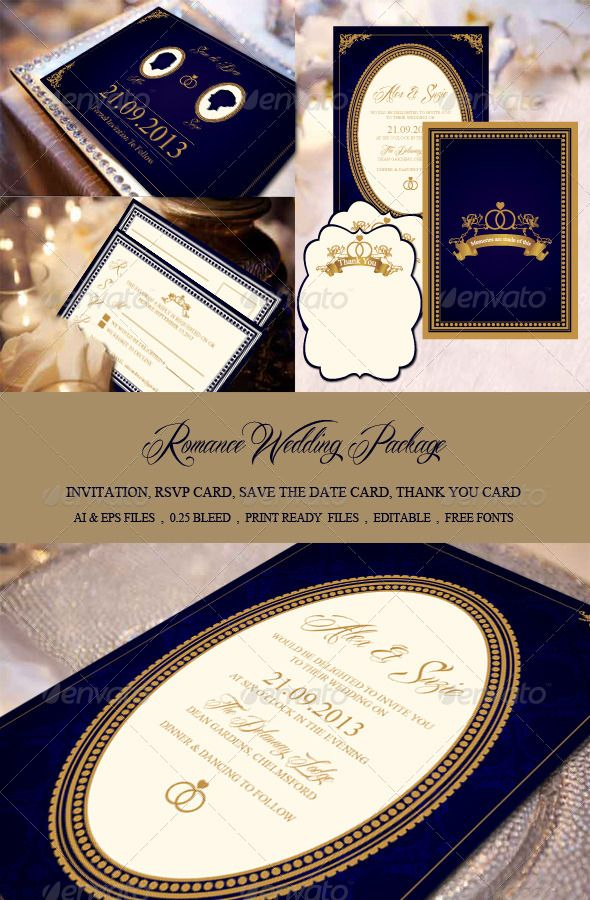 Wedding Invitation Package 2 - pined from: http://graphicriver.net/user/staticeblue/portfolio