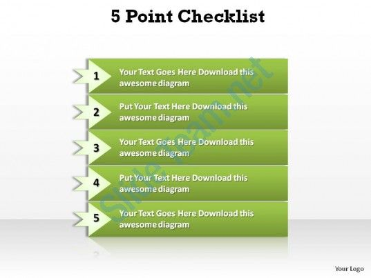 5 point checklist slides presentation diagrams templates powerpoint info graphics Slide01