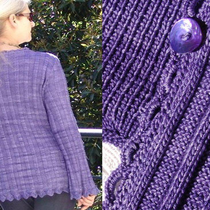 #1002 Diamond Collection. Slinky Cardi. knittingstation.com