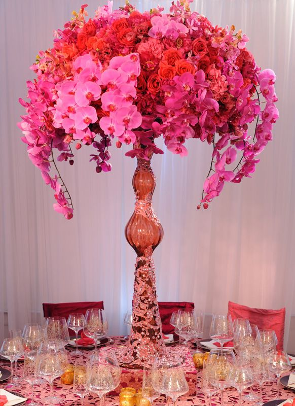 Pink Orchid Centerpiece : Best images about floral centerpieces on pinterest