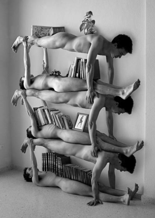 human bookshelf