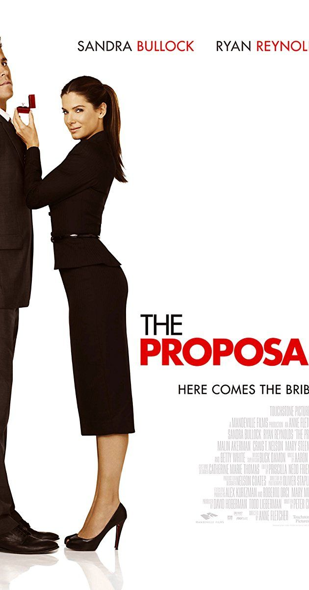 Directed by Anne Fletcher.  With Sandra Bullock, Ryan Reynolds, Mary Steenburgen, Craig T. Nelson. A pushy boss forces her young assistant to marry her in order to keep her visa status in the U.S. and avoid deportation to Canada.