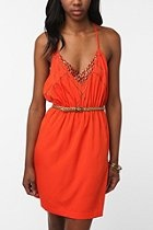 $69 this is the perfect summer dress! Ecote Embellished Strappy Silky Dress  #UrbanOutfitters