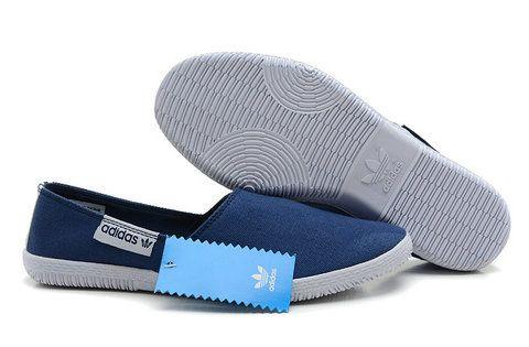 Adidas Adicolor Adidrill Loafers Denim Blue Canvas Men Shoes   My Wishlist   Pinterest   Adidas ...