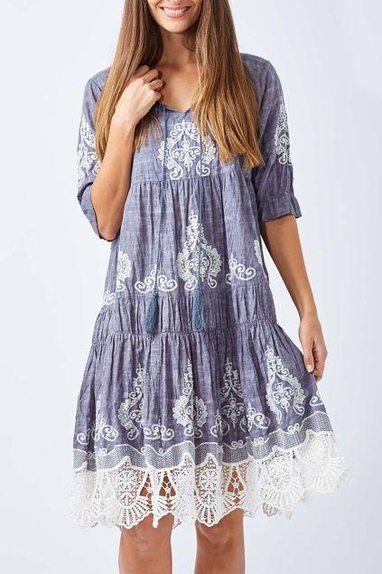 Ruby Yaya Slub Dress - Womens Knee Length Dresses - Birdsnest Clothing Online