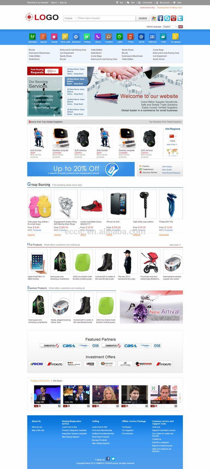 b2b alibaba website design,b2b2c ecommerce website design #Adobe, #Templates