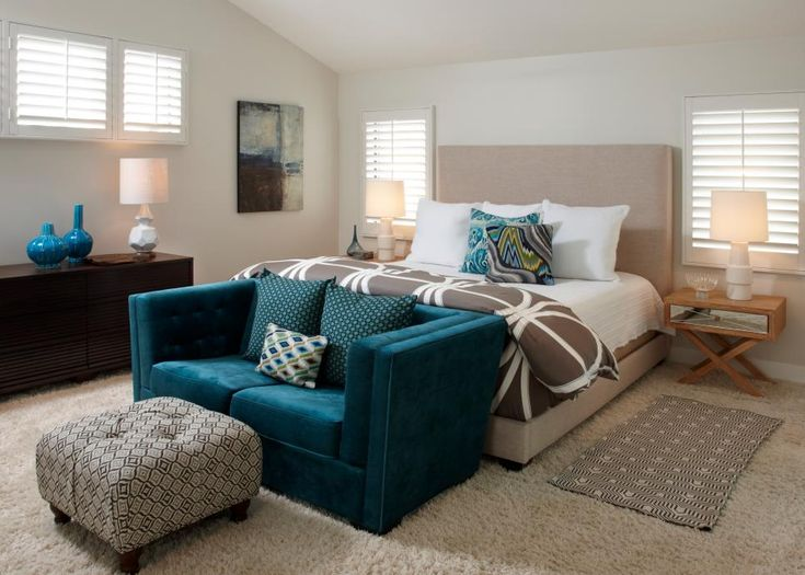 15 ways to decorate with rich peacock blue bedroom themesbedroom colorsbedroom - Hgtv Bedrooms Colors