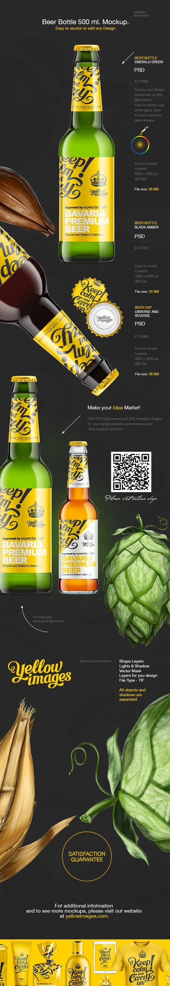 Yellow Images Approved by experts Est 1527 Bavaria Premium Beer Brewed and bottled in Gemany