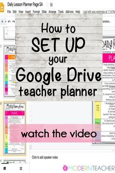 How to Set Up Your Google Drive Teacher Planner