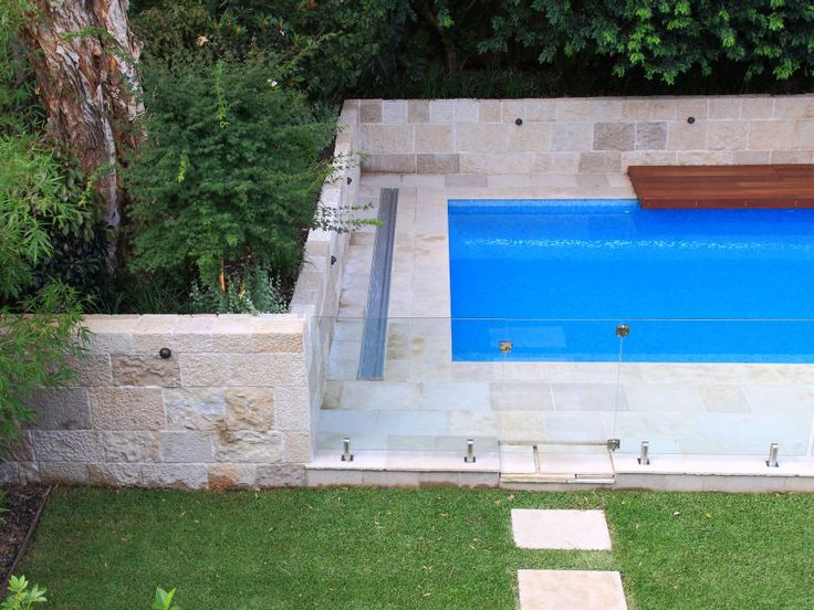 Pool Wall Cladding : Barrimah stone walling sandstone cladding by