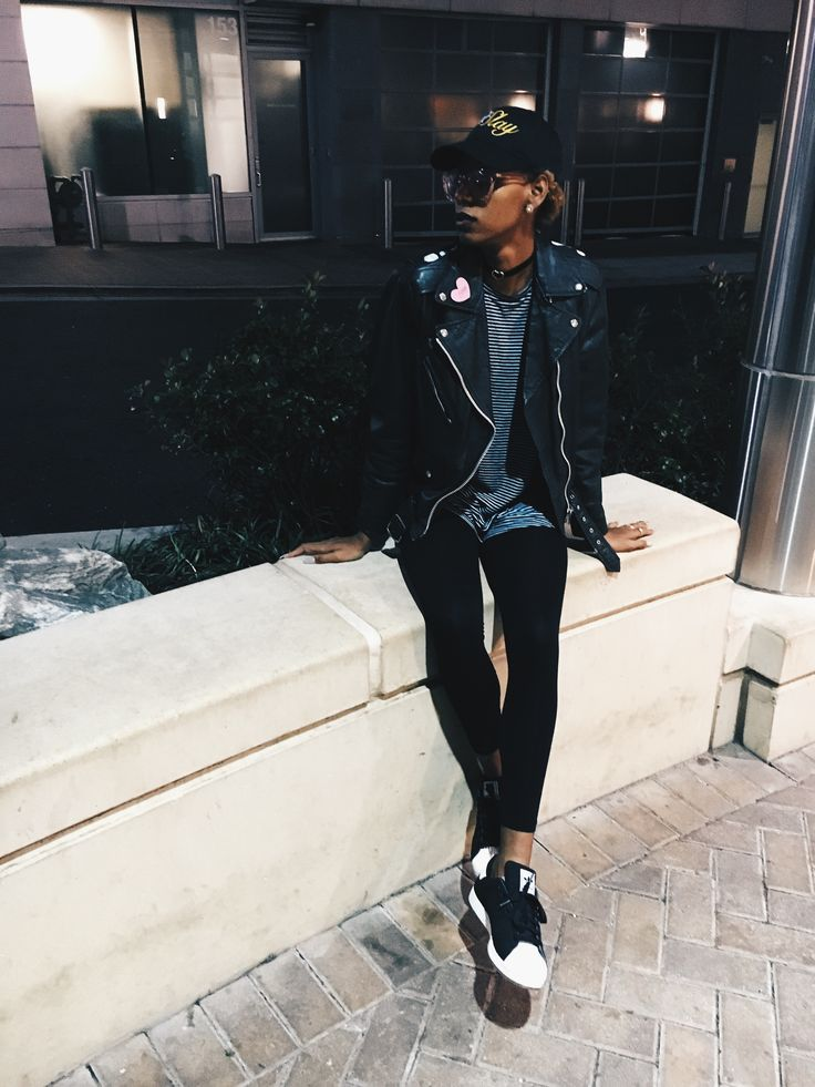 All black outfit  Mood : Slay hat by me  Adidas Superstar  Instagram.com/theaprilijay