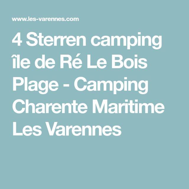 4 Sterren camping île de Ré Le Bois Plage - Camping Charente Maritime Les Varennes