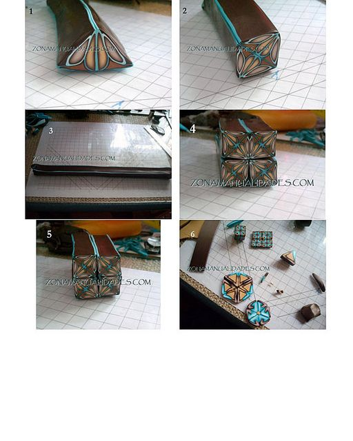 polymer clay tutorial. cane. kaleidoscope.