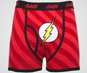 The Flash Boxer Briefs are ideal gifts for Marvel fans and fast finishers.