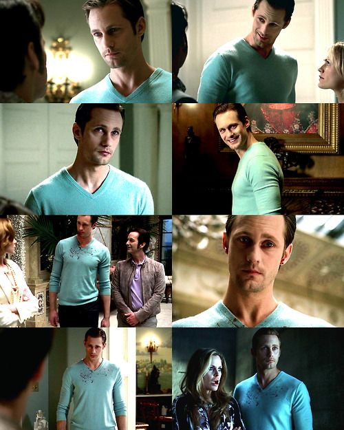 Eric and his blue sweater <3 alexander skarsgard,sexy,hot,True Blood,Eric Northman,Александр Скарсгард,true blood
